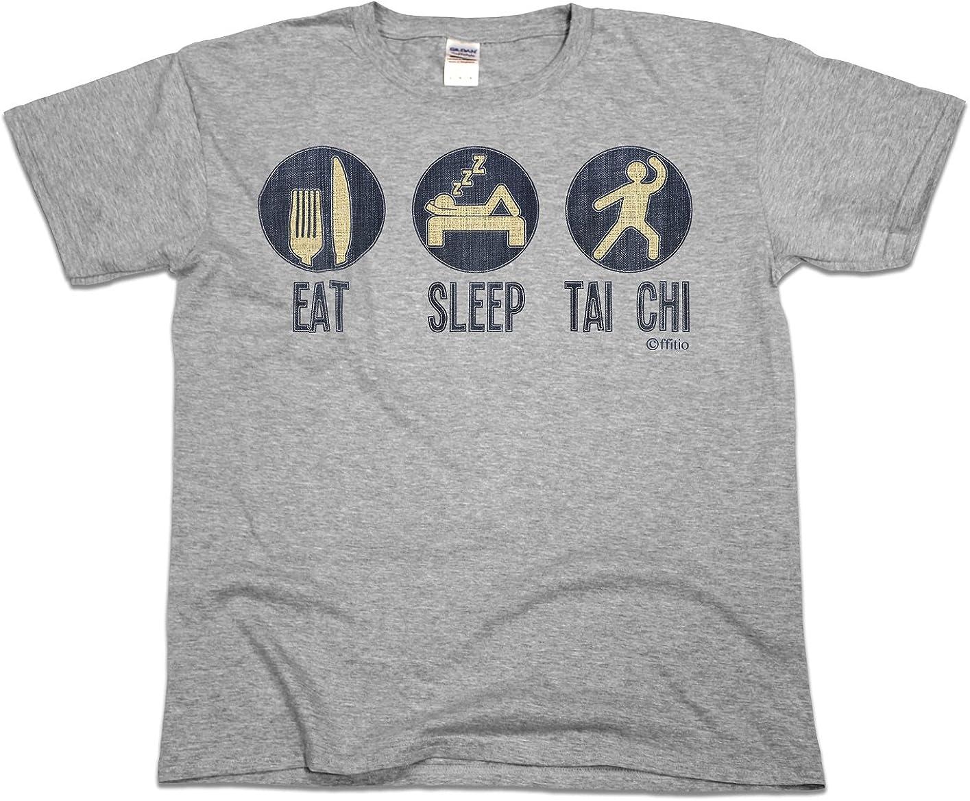 ffitio Eat Sleep Tai Chi Mens Martial Arts Gift T-Shirt Camiseta para Hombre: Amazon.es: Ropa y accesorios