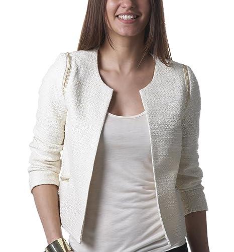 Promod Veste Ecru Accessoires Irisée 36 Et Vêtements Couture a4r1q8a