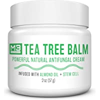 M3 Naturals Tea Tree Balm Infused with Stem Cell and Almond Oil Powerful Natural Antifungal Cream for Athletes Foot Jock…
