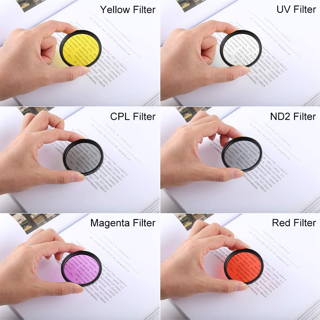 52mm Diving Filte 52mm UV Filter 52mm ND2 52mm Diving Filter Red 52mm CPL Filter FOR MOBILEACCESSORIES TL 7 in 1 for Xiaomi Xiaoyi Yi II 4K Sport Action Camera Proffesional 52mm Adapter Ring
