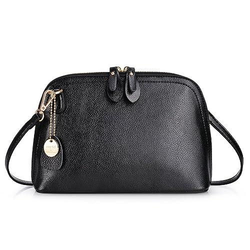 acheter populaire bd854 1201a VBIGER Petit Sac Bandoulière Femme en PU Cuir Sacs à Main Femmes Mini  Sacoche Fille Pochette Mode Casual Noir