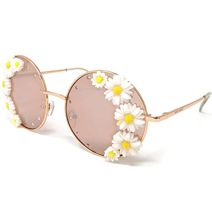 3adacb2a964 Amazon.com  Kathy Ireland Women s Floral Round Frame with Pink ...