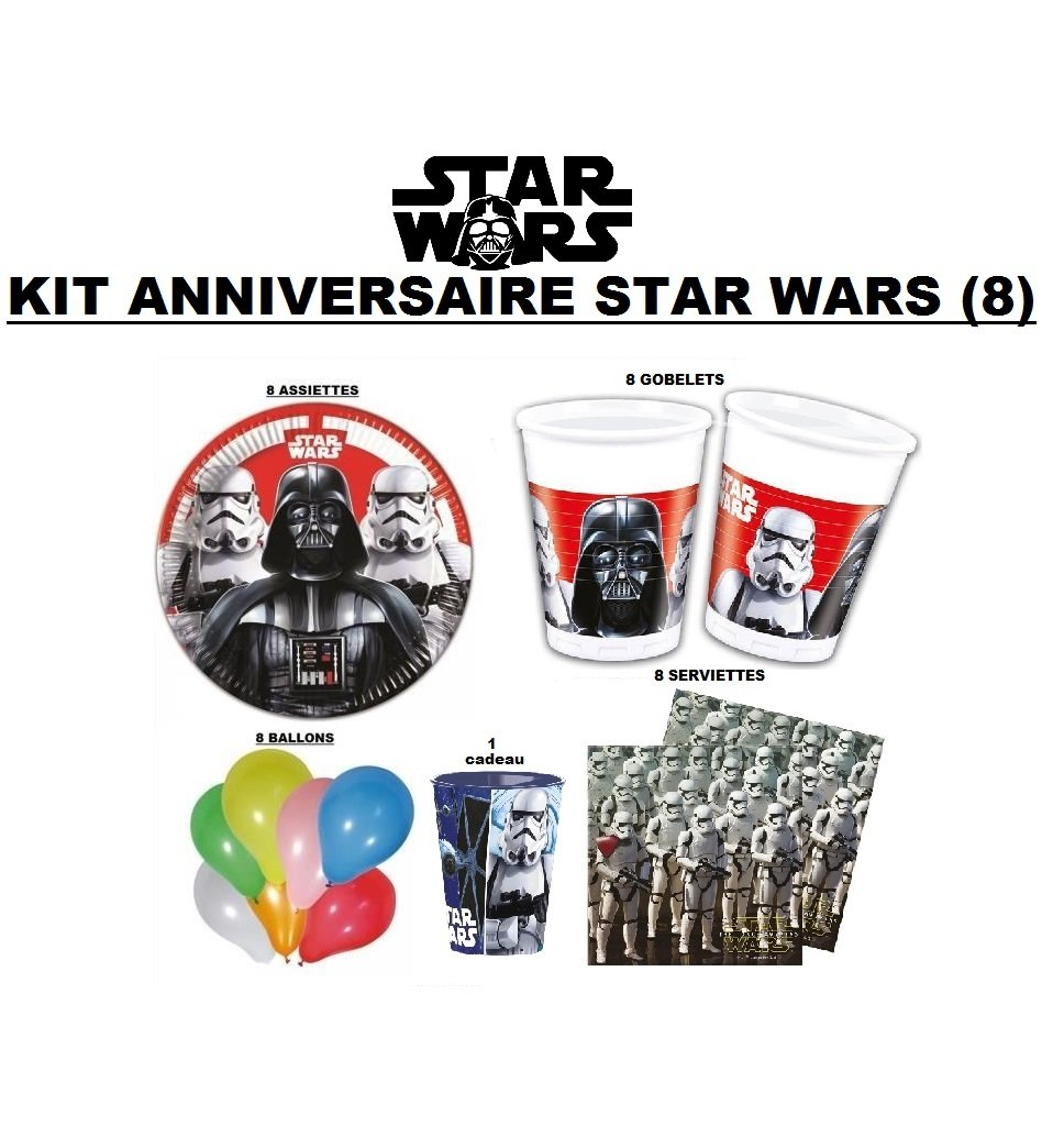 Kit Decoración cumpleaños Star Wars (8): Amazon.es: Hogar