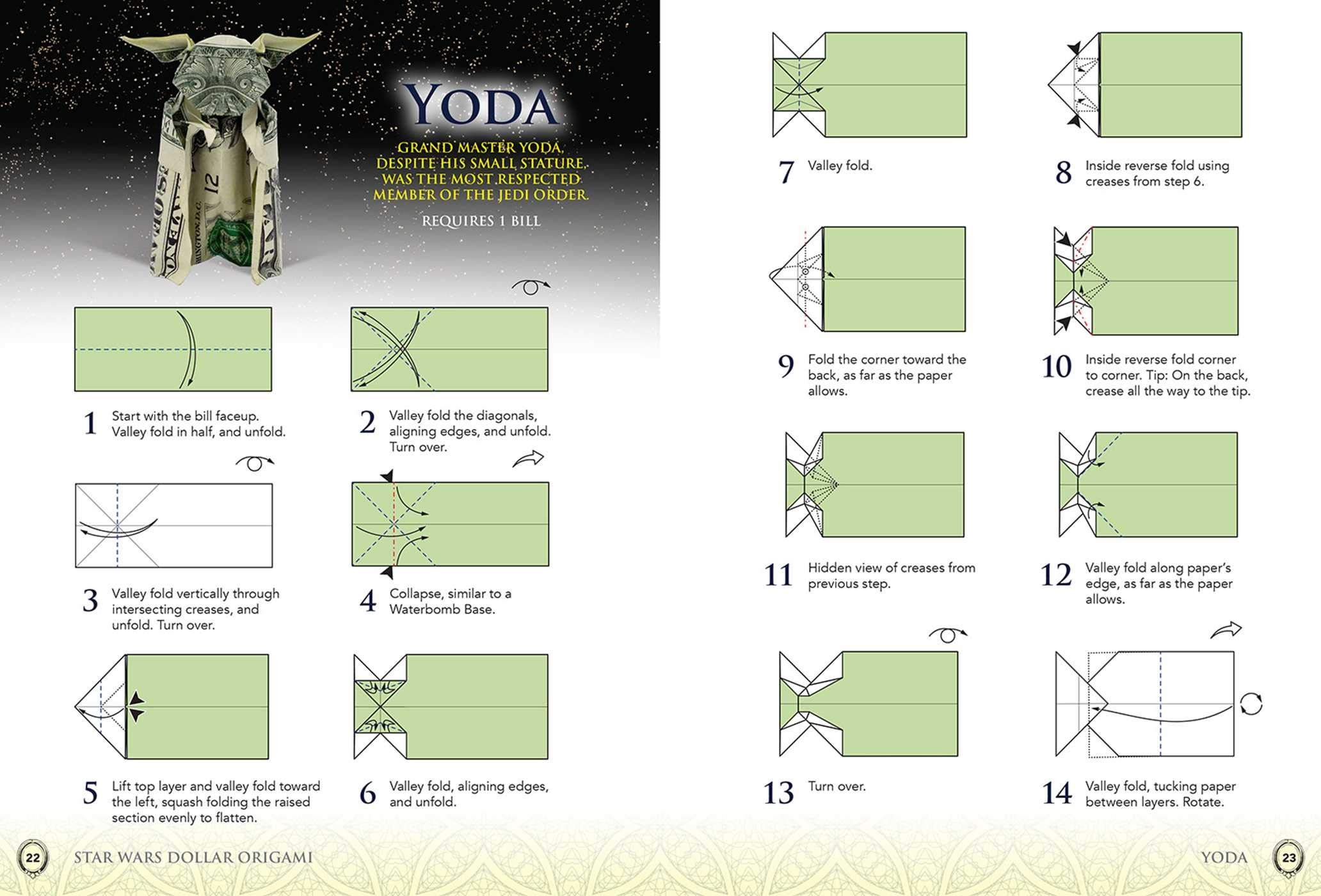 Easy Star Wars Origami - Post-it® Note Crafts Yoda Bookmark ... | 1400x2064