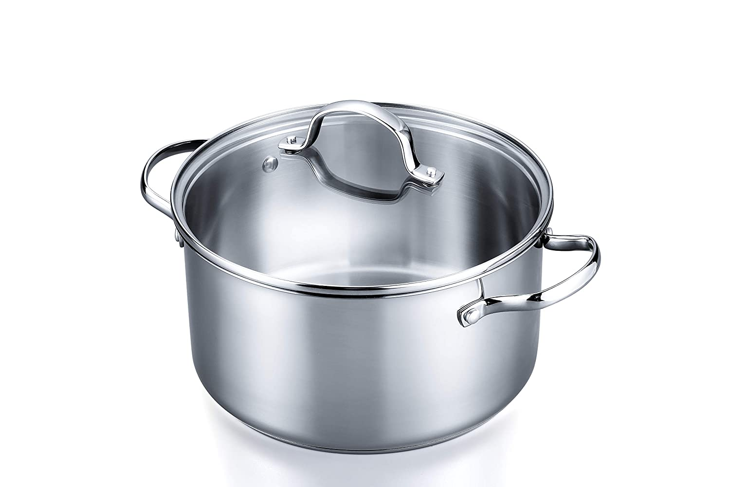 Stovetop Pro Stainless Steel 6 Quart Stockpot and Lid – 24 Cm Diameter - Dishwasher and Oven Safe and Induction Capable – Complementary Addition to Our 3 Pc Starter Set