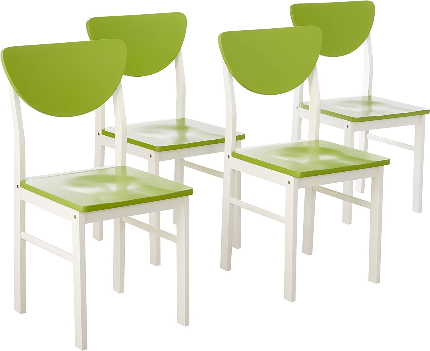 Kings Brand Furniture depot Kitchen Wood Side Set Chair White 4 Popularity of