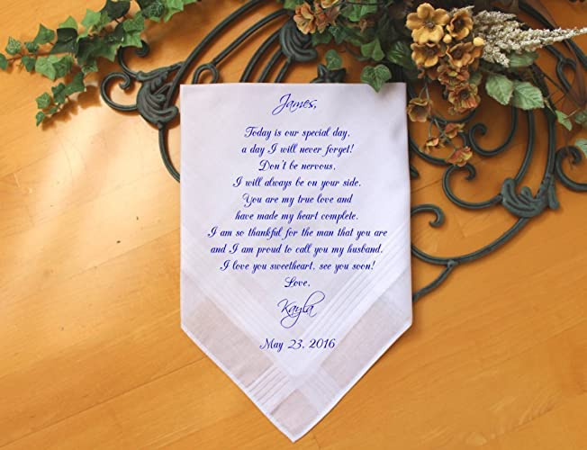 Amazon Groom Wedding Handkerchief From The Bride Wedding