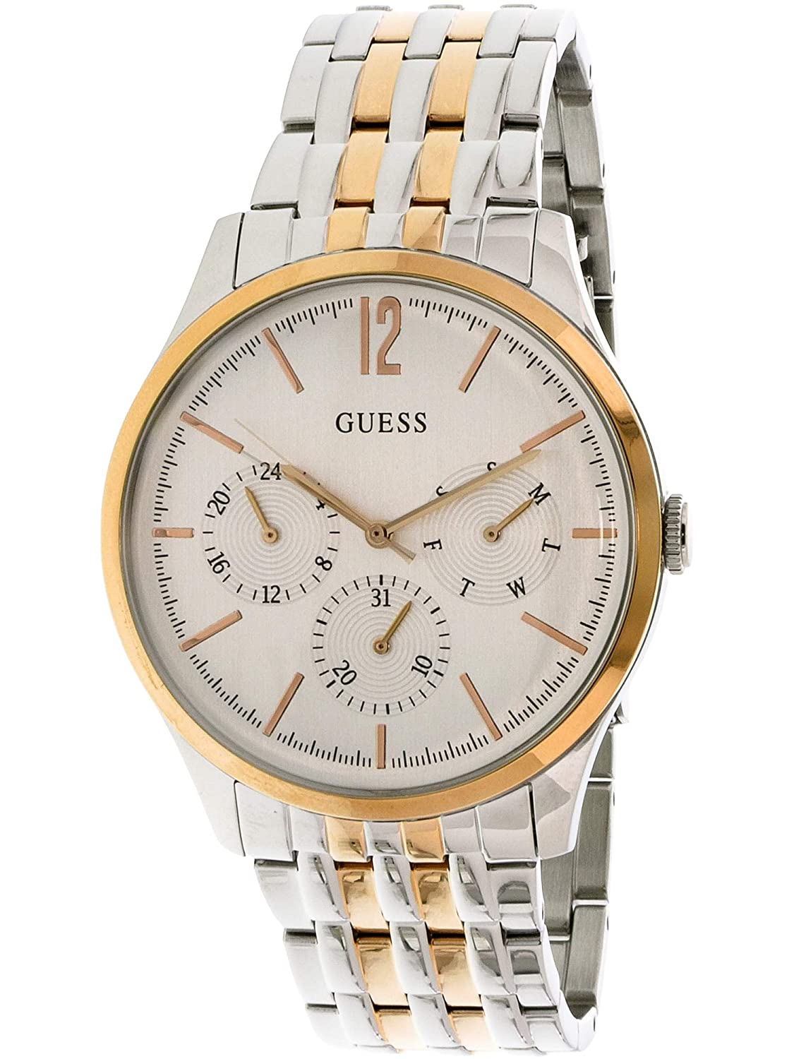 a983c71ac97f Buy GUESS Analog Gold Dial Men s Watch - U0995G3 Online at Low Prices in  India - Amazon.in