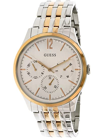 Amazon.com: Guess Mens U0995G3 Silver Two-tone Stainless-Steel Quartz Fashion Watch: Guess: Watches