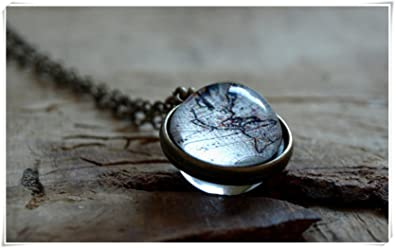 Amazon world map necklace vintage world map globe necklace world map necklace vintage world map globe necklace antique world map pendantglobe gumiabroncs Image collections