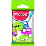 Maped Pack of 3 Pencil Sharpeners, Assorted Colours