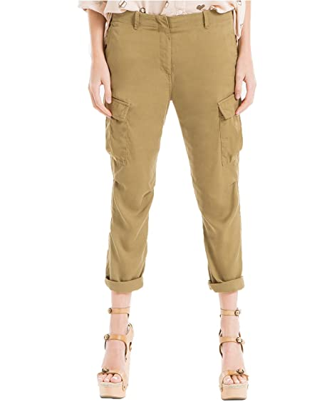 a48dee0bc52697 Max Studio London Women's Cuffed Cargo Pants (14, Olive): Amazon.ca:  Clothing & Accessories