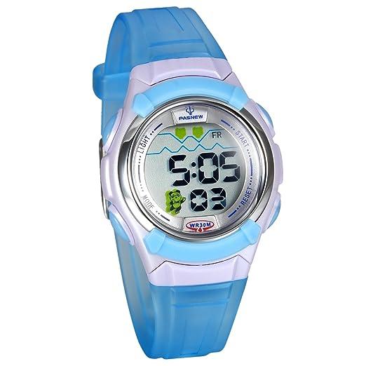 Lancardo Reloj Electrónico con Dibujo Animado Panda Encantadora Resistente al Agua de 30M Pulsera Digital Multifuncional