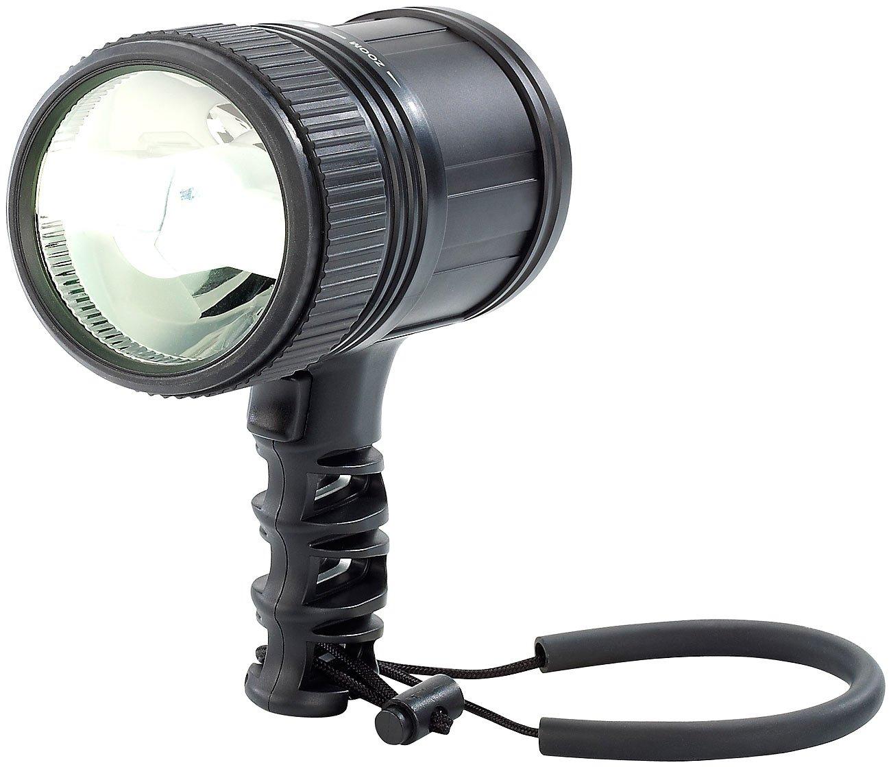 KryoLights Taschenlampen LED: LED-Handlampe 10 W, 480 Lumen, für bis zu 350 m Leuchtweite (Hand-Suchscheinwerfer LED)