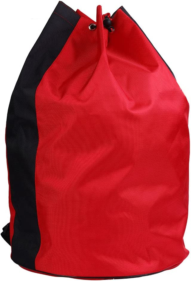 Adults Portable Bag Backpack Large Capacity Storage Bag for Sanda Taekwondo Protectors Tools with Double Shoulders Design and Round Shape Bottom