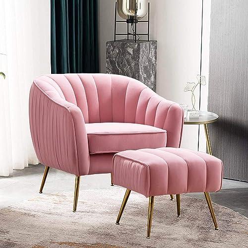 Altrobene Accent Chair Ottoman Set