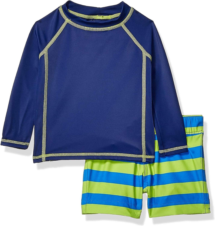 Essentials Boys Baby 2-Piece Long-Sleeve Rashguard and Trunk Set