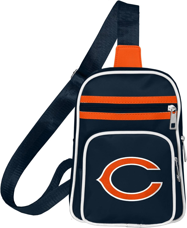 "Littlearth NFL Chicago Bears Mini Cross Sling Bag Navy, 7"" x 10"" x 3"" : Sports & Outdoors"