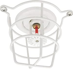 """(2 Pack) TunaMax White Fire Sprinkler Head Guard for Both 1/2"""" & 3/4"""" Sprinkler Head for Protecting Flush Mount & Side Wall & Semi - Recessed Sprinkler Head Cover - Mounting Hardwares Included"""
