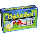 Dominoes Chicken Foot Double 9, Tournament Size Set with Colored Dots