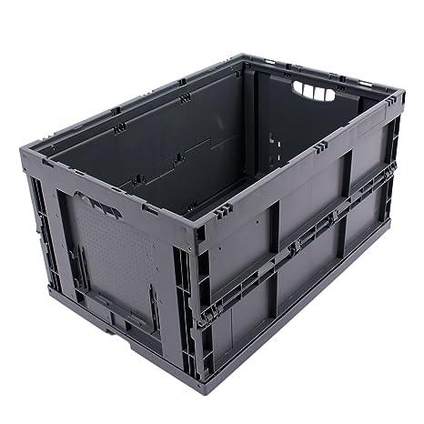 CAJA PLEGABLE 61L, caja plegable de plastico, caja de transporte, cesta de la