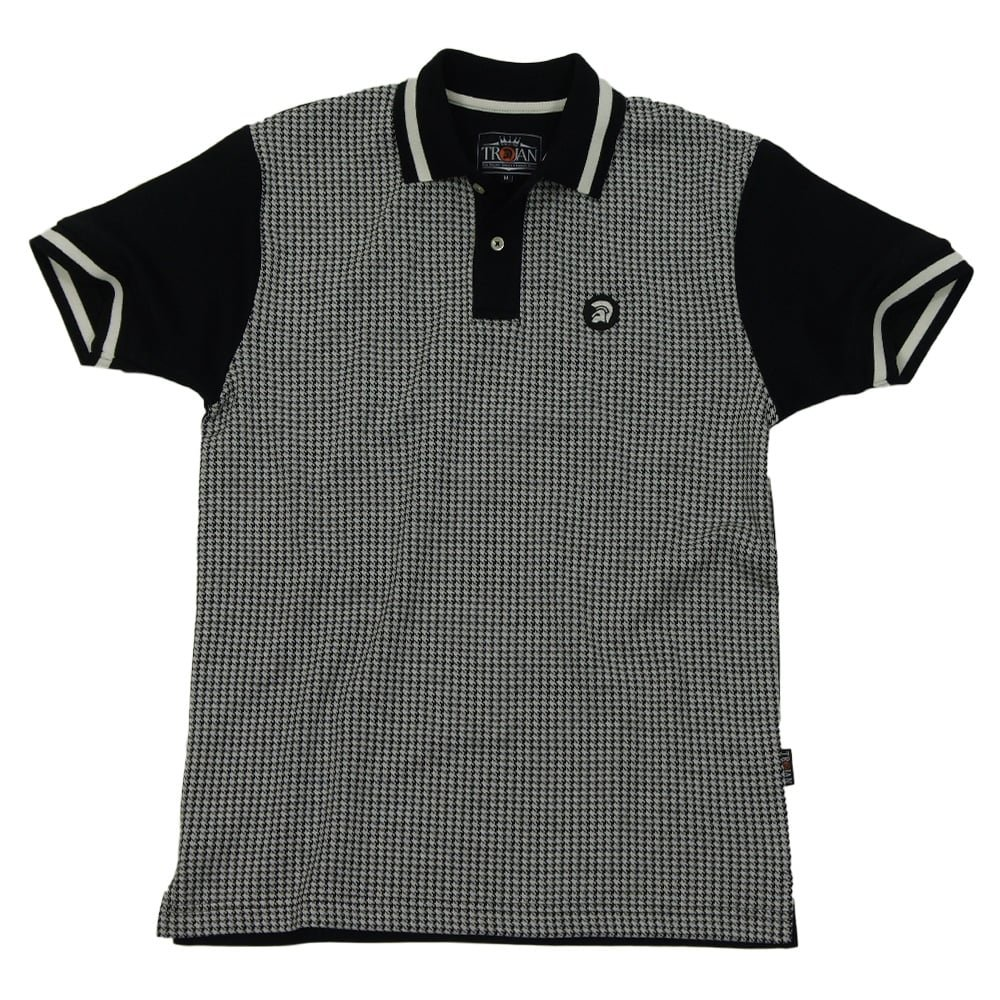 Trojan Records Clothing - Polo - para Hombre Negro Blanco y Negro ...