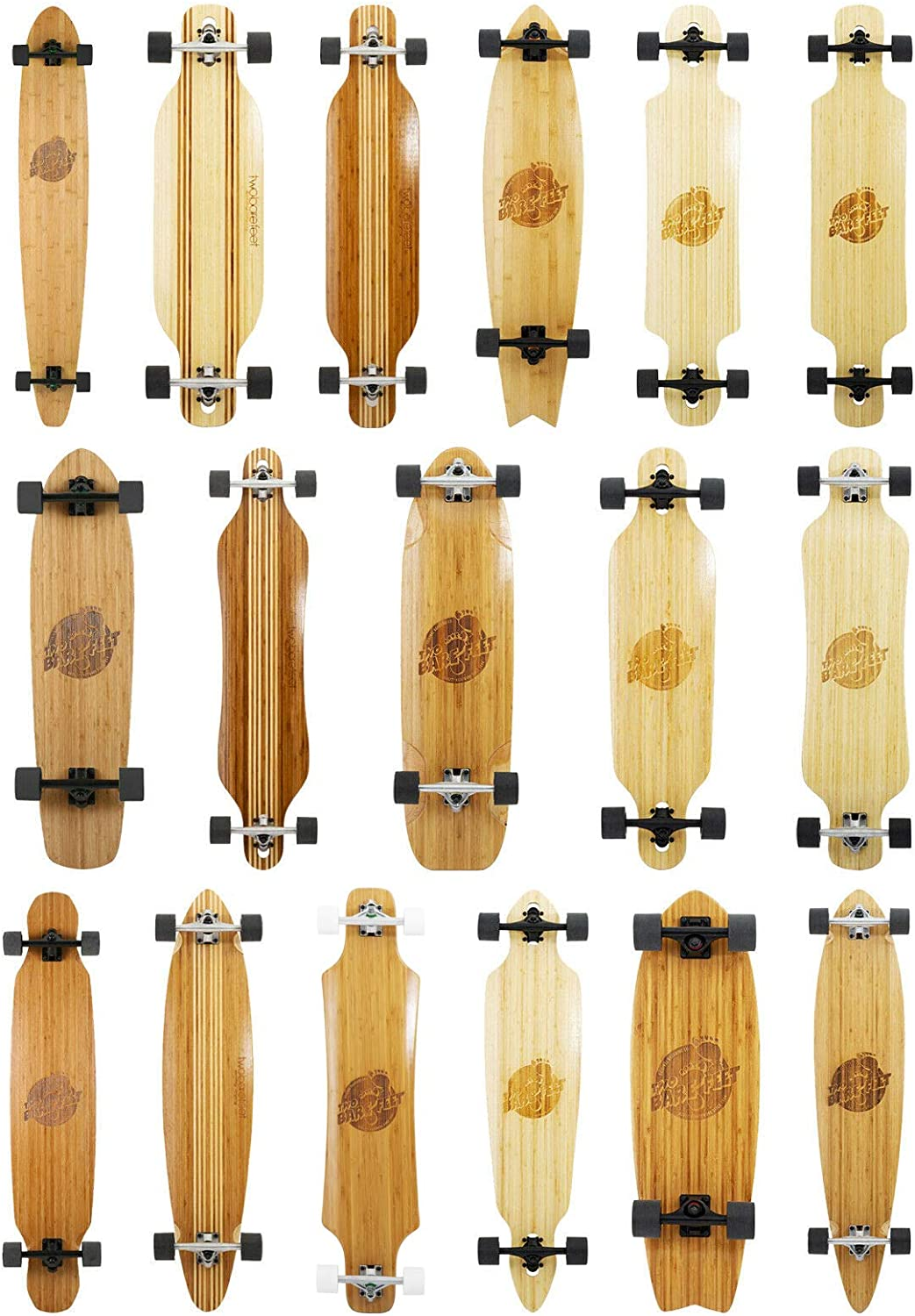 Two Bare Feet Bamboo Series Longboard Skateboard Complete Premium Pro Model / UK