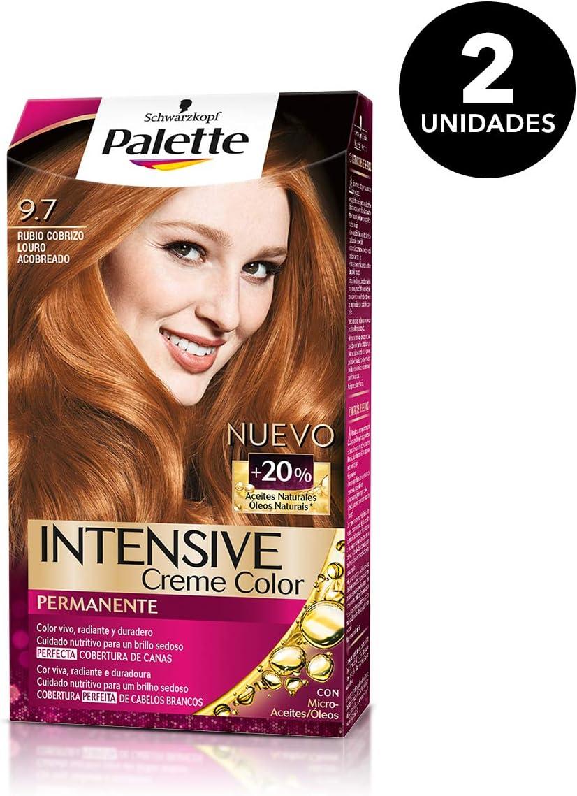 Palette Intense - Tono 9.7 Rubio Cobrizo - 2 uds - Coloración Permanente - Schwarzkopf