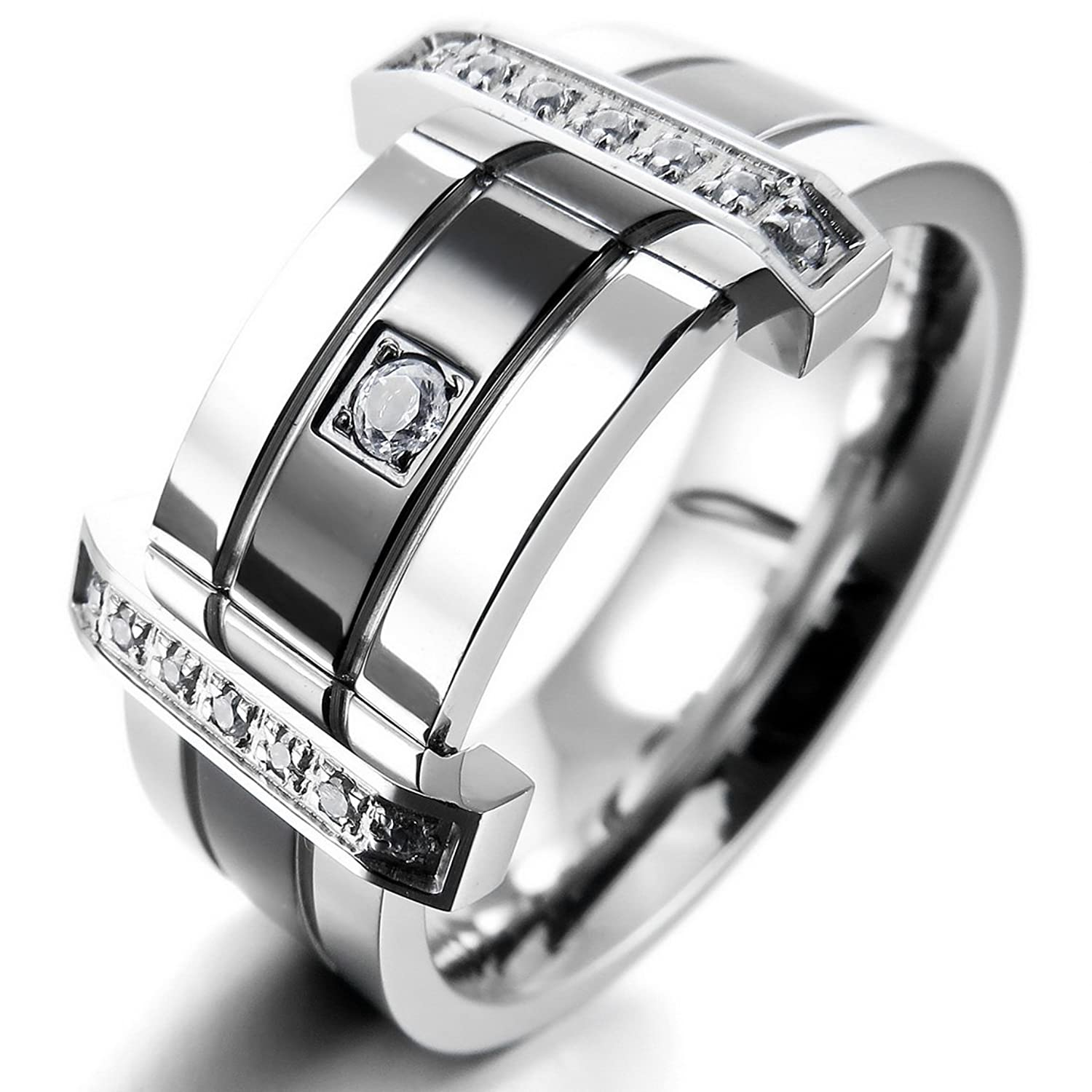 over platinum rings set remodel palladium remodeled wedding banded in remodelled centre ring the into portfolio combining a rub triple black plain with outer diamonds