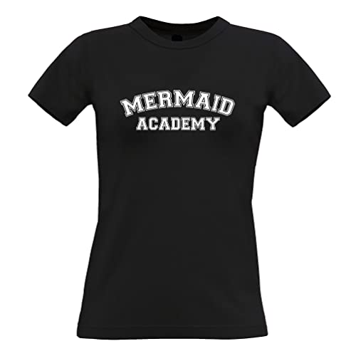 Tim and Ted Fantasia T-Shirt da Donna Mermaid Academy Education Learning Textbook College School