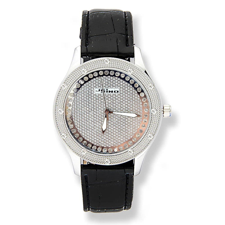 Jojino Virginia mj-1039b. 43.50 mm. Rund. Frau Diamant Armbanduhr. (weiß)