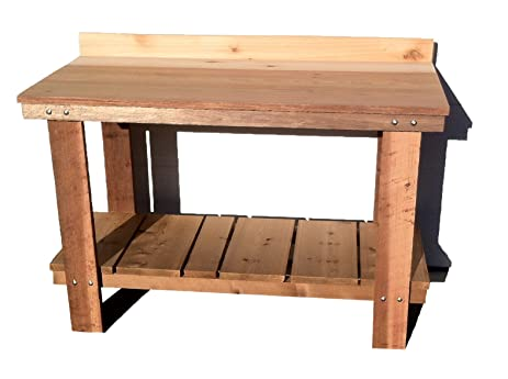 Mill Direct Western Cedar Potting Table, Red