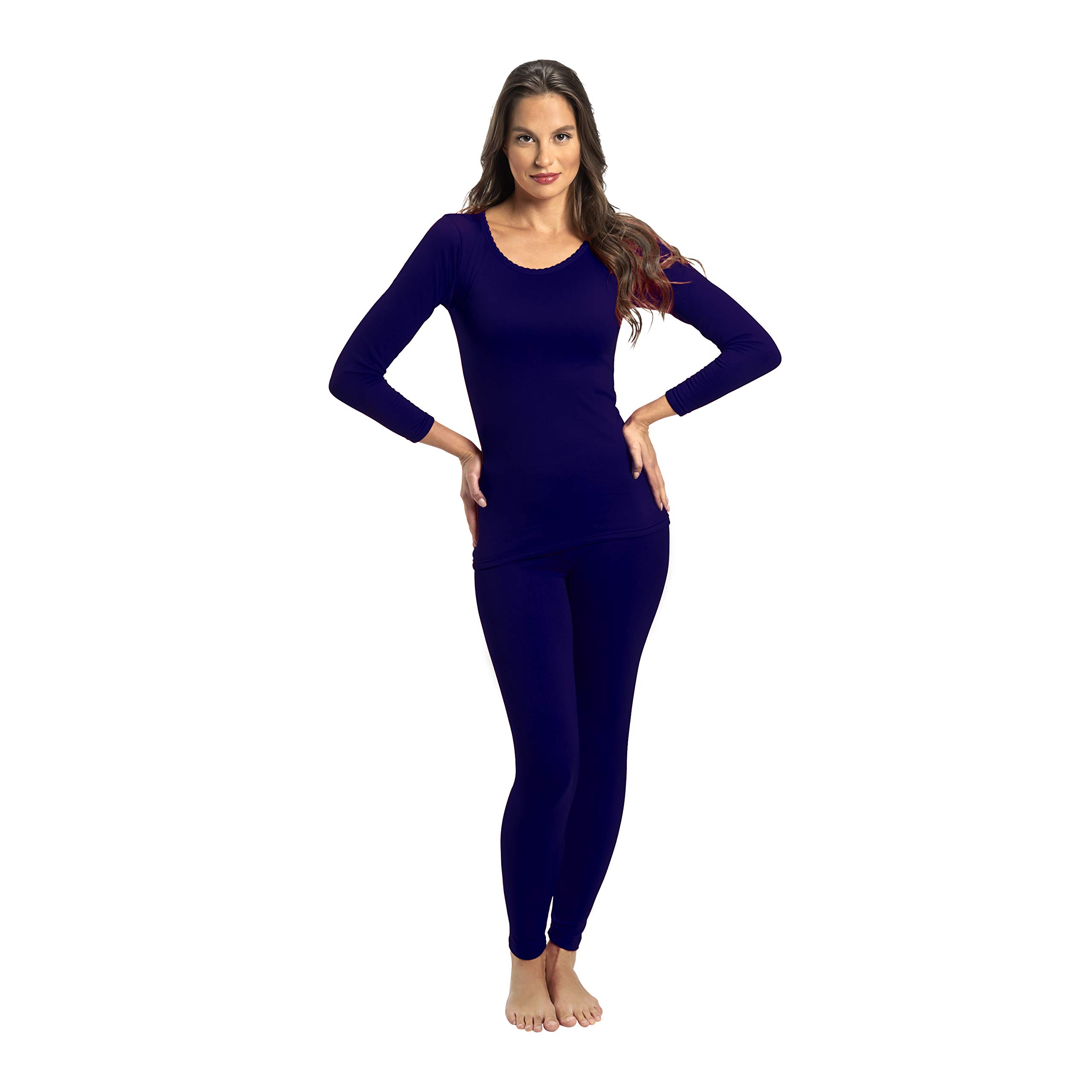 Rocky Thermal Underwear for Women Fleece Lined Thermals Women's Base Layer Long John Set Royal Blue by Rocky