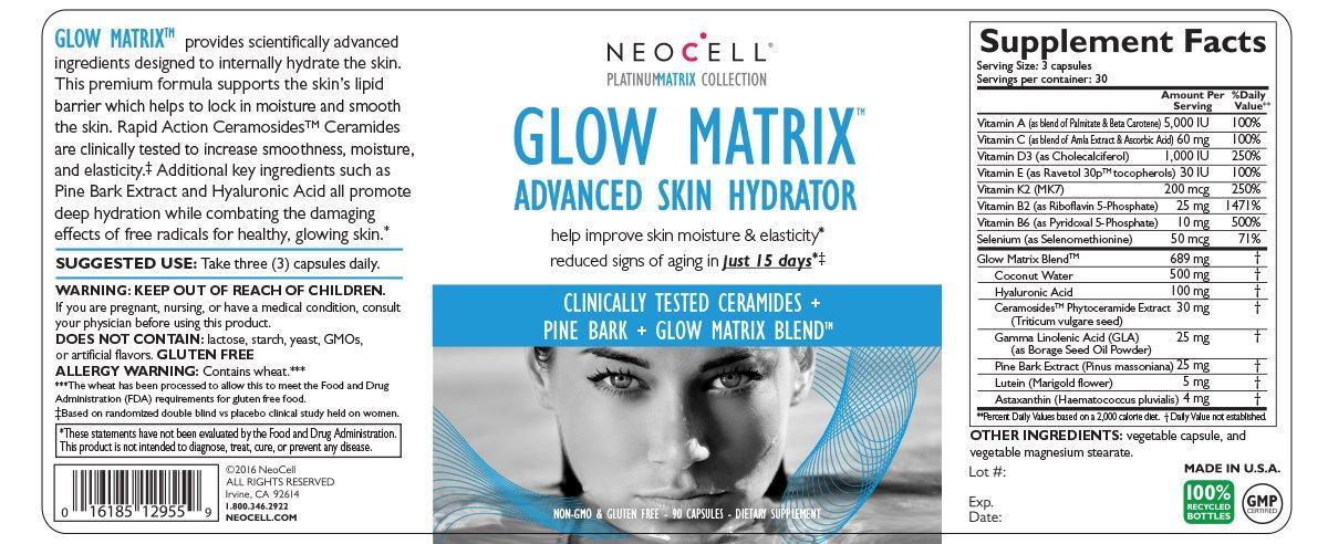 NeoCell - Glow Matrix Advanced Skin Hydrator - 90 Capsules