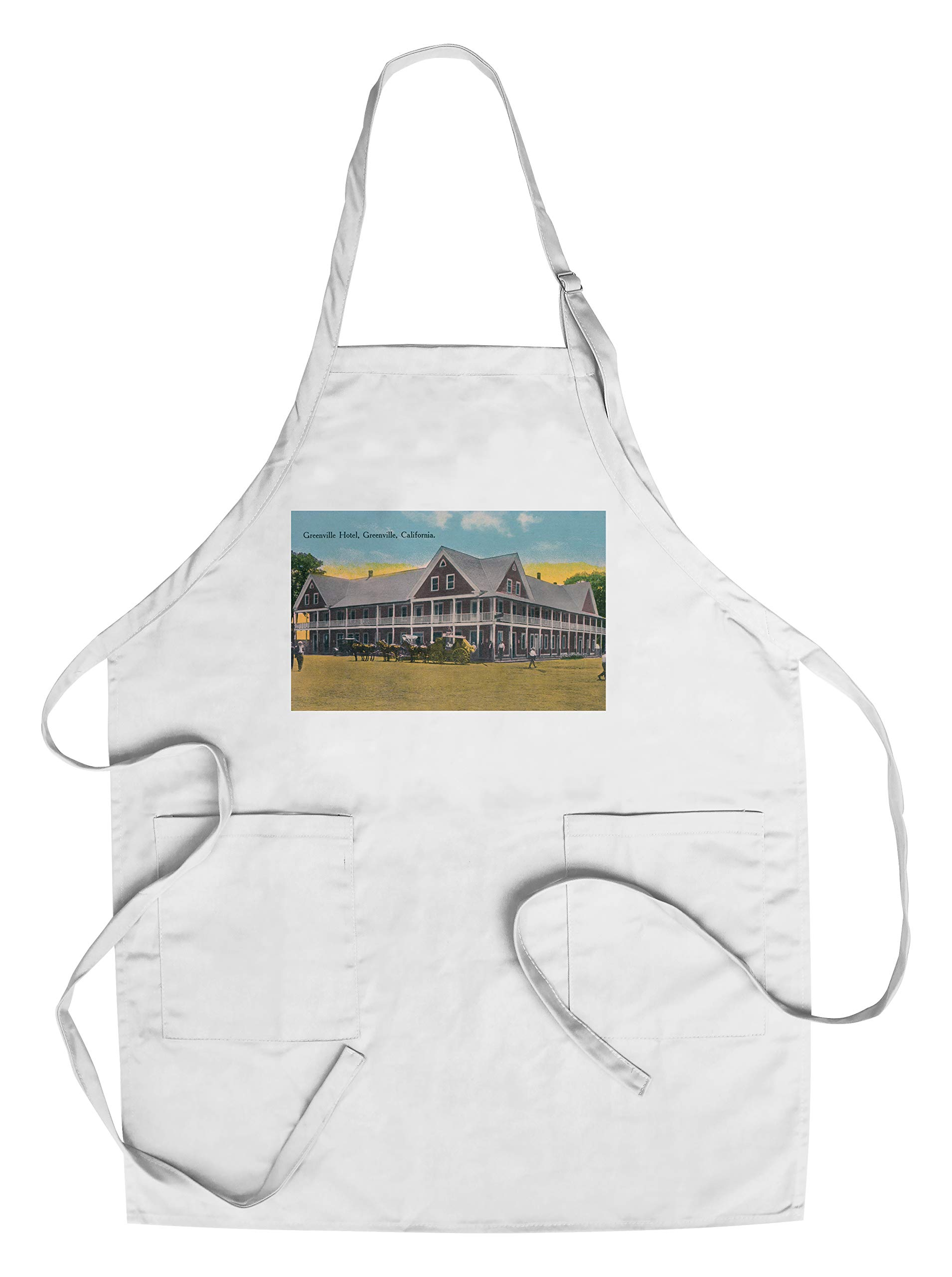 Greenville, California - Exterior View of the Greenville Hotel (Cotton/Polyester Chef's Apron)