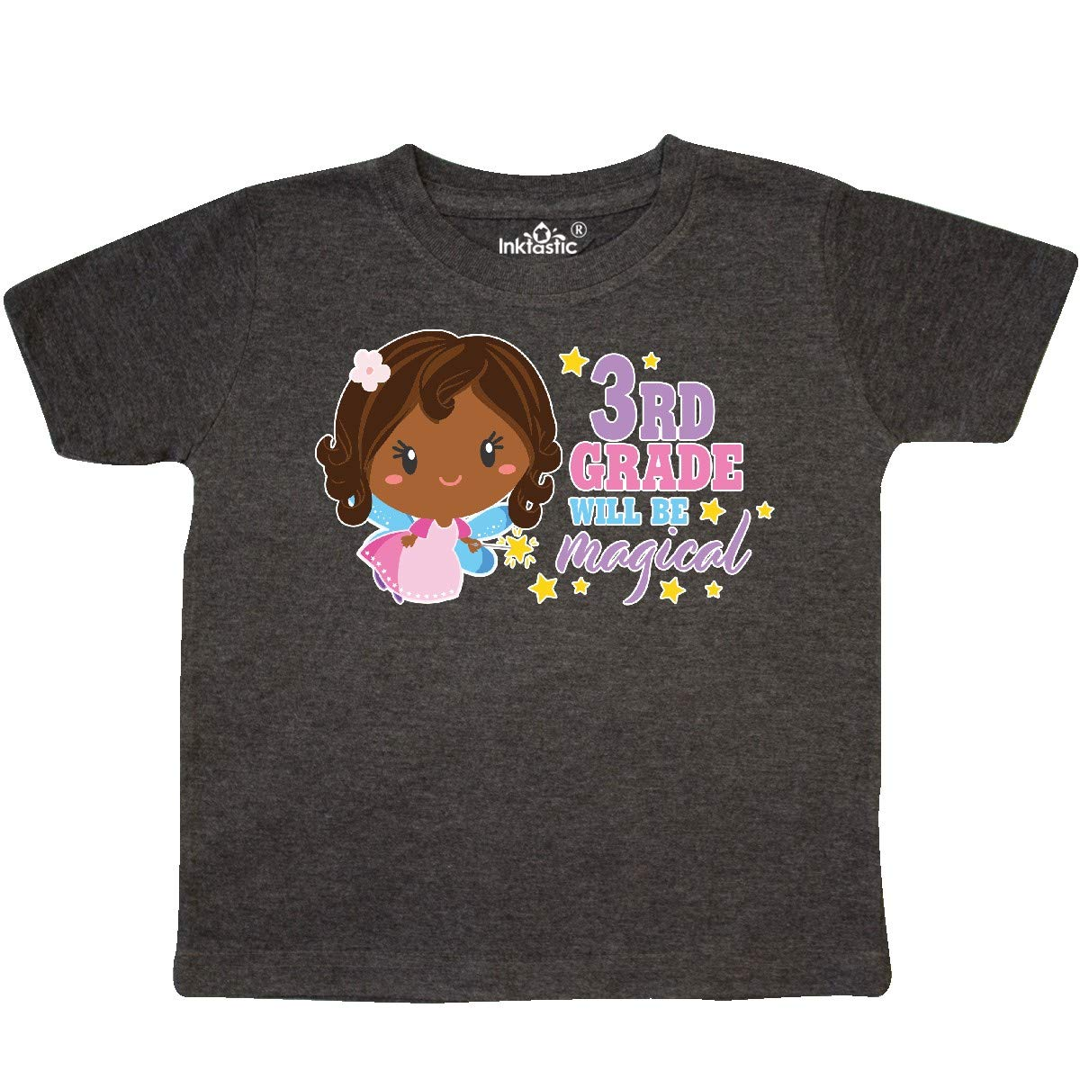 inktastic 3rd Grade Will Be Magical with Brown Haired Fairy Toddler T-Shirt