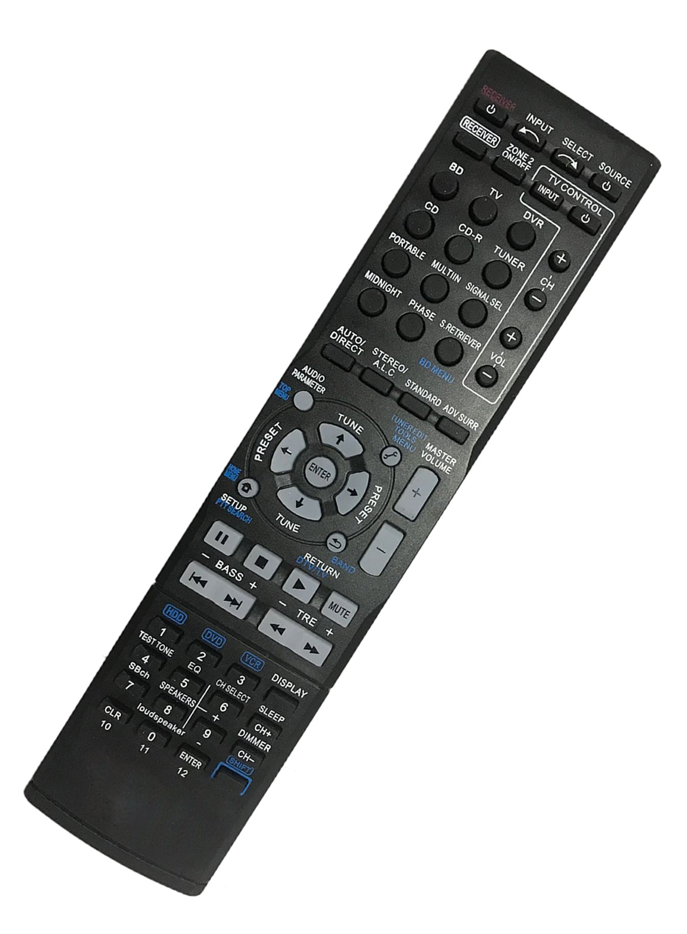 Replaced Remote Control Compatible for Pioneer VSX-321-K AXD7536 VSX-820 VSX-822-K VSX-1029 Home Theater AV A/V Audio/Video Receiver System