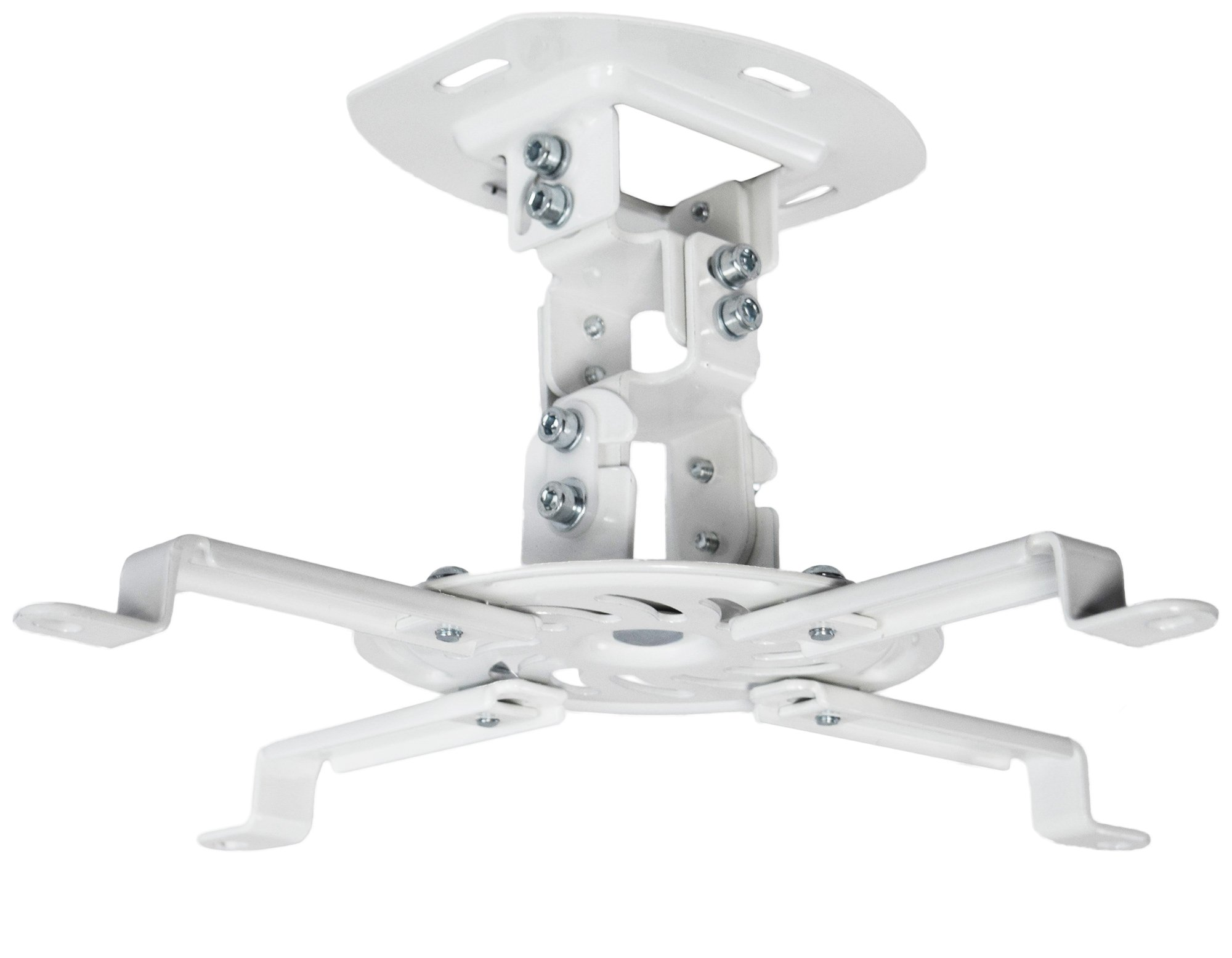 VIVO Universal Adjustable White Ceiling Projector | Projection Mount Extending Arms Mounting Bracket (MOUNT-VP01W) by VIVO