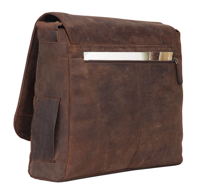6ed68ebdfa34 Amazon.com  Leather Laptop Messenger Bag for Men - Premium Office Briefcase  13