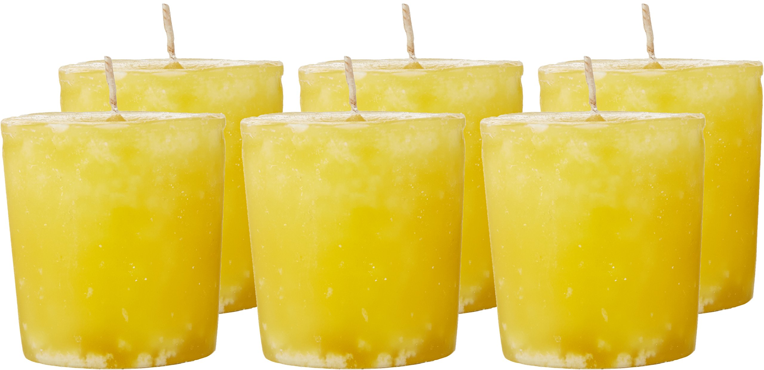 Aroma Naturals Ambiance Votive Candle, Yellow/Orange/Lemongrass, 6 Count by Aroma Naturals (Image #3)