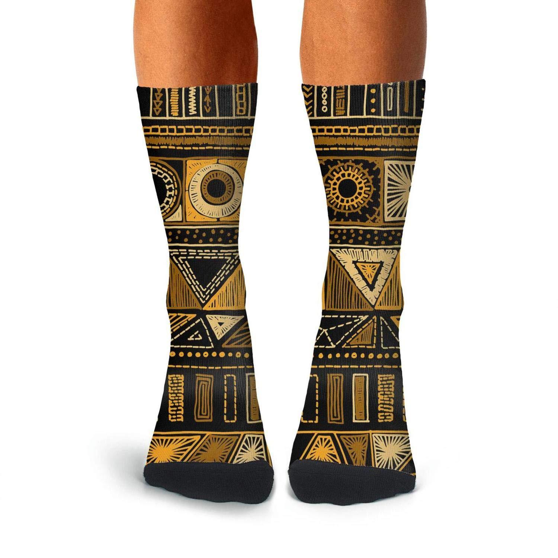 Mens Athletic Cushion Crew Sock Indian Mexican Folk Boho Long Sock Cute