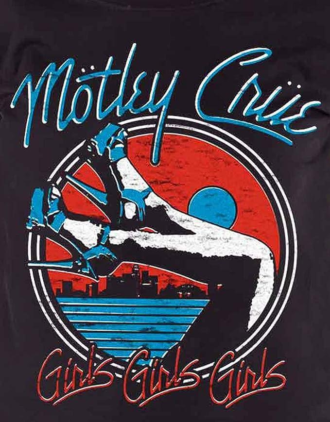 100/% Official Licensed Merch Ladies' SKINNY T-SHIRT Top MOTLEY CRUE Heels V.3.