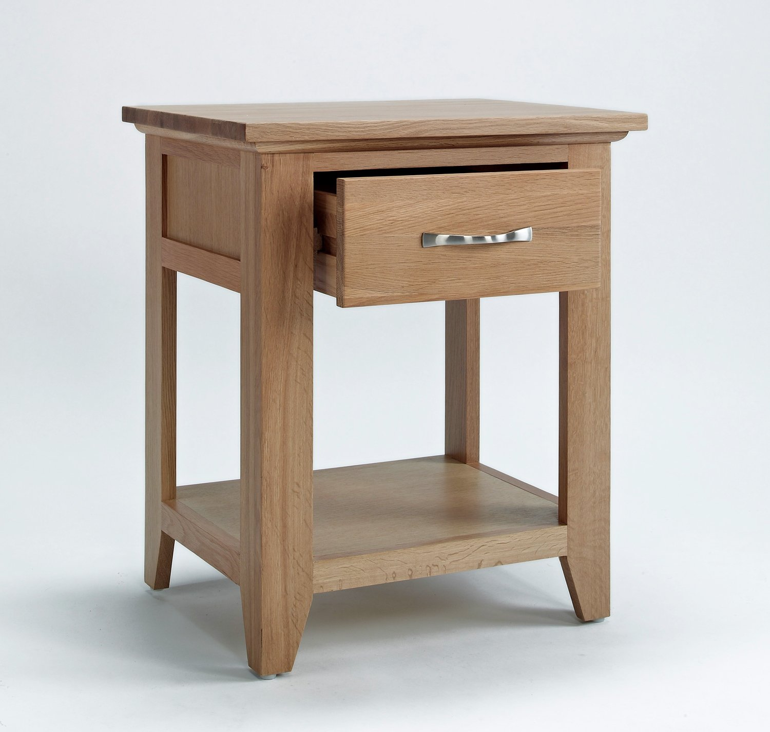 Sherwood Oak Lamp Table with Drawer Amazoncouk Kitchen Home