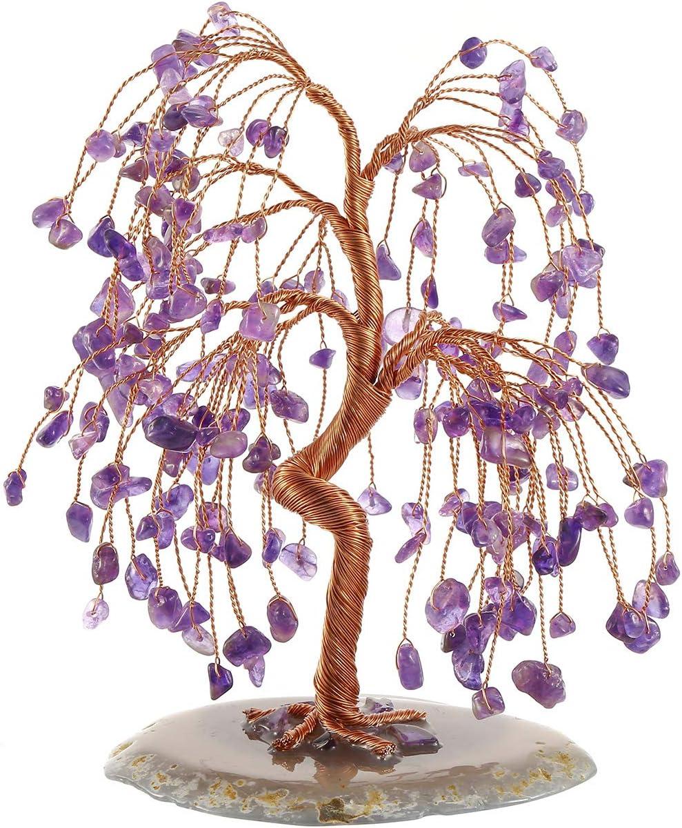 CrystalTears Amethyst Crystal Money Al sold out. New mail order Gemst Feng Shui Tree