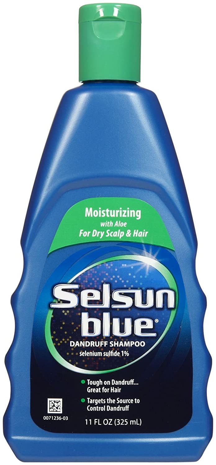 Selsun Blue Moisturizing with Aloe Dandruff Shampoo, 11 Fl Oz, Pack of 1