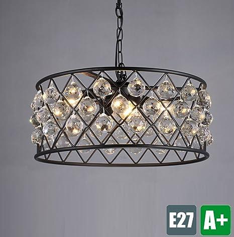 Vintage colgante lámpara K9 Cristal Decoración Techo Techo ...