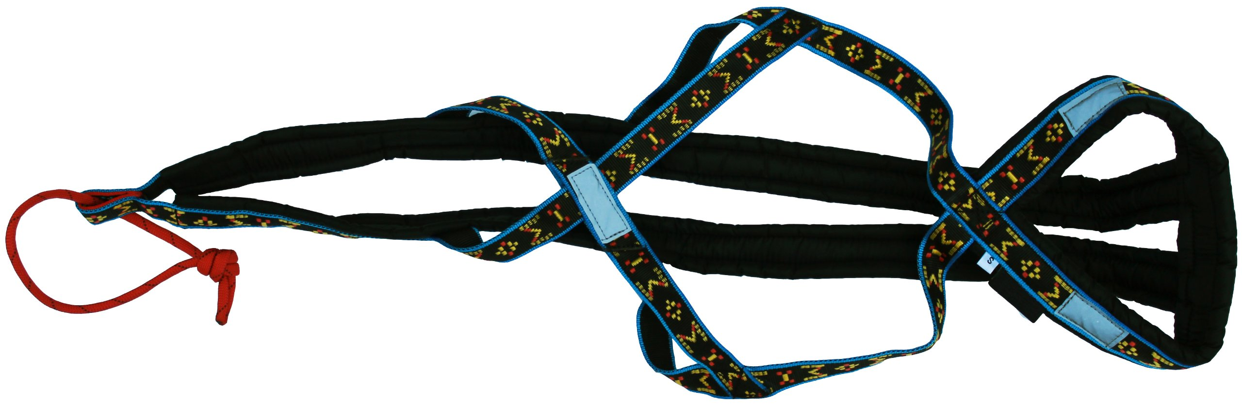 Weight Pulling Sledding Dog Harness X-Back Style for Wide Chested Hound Dogs (Black/Blue, Large) by Dogs My Love