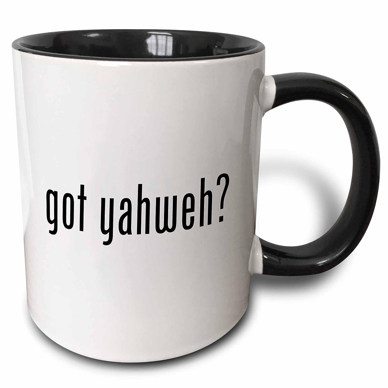 Buy 3drose 3drose Got Yahweh Two Tone Black Mug 11oz Mug 15991 4 Black White Online At Low Prices In India Amazon In