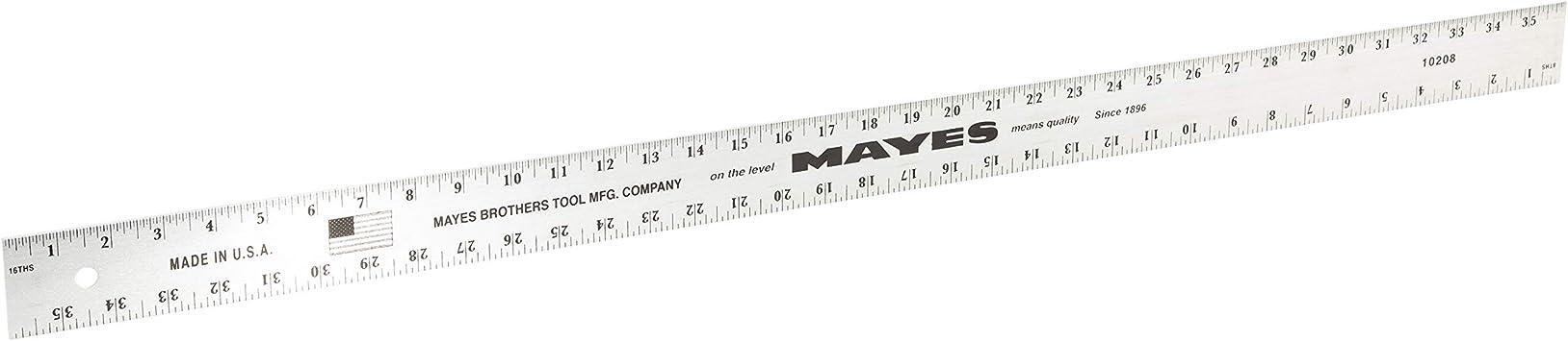 Mayes 96 Inch x 2 Inch Straight Edge Aluminum Ruler