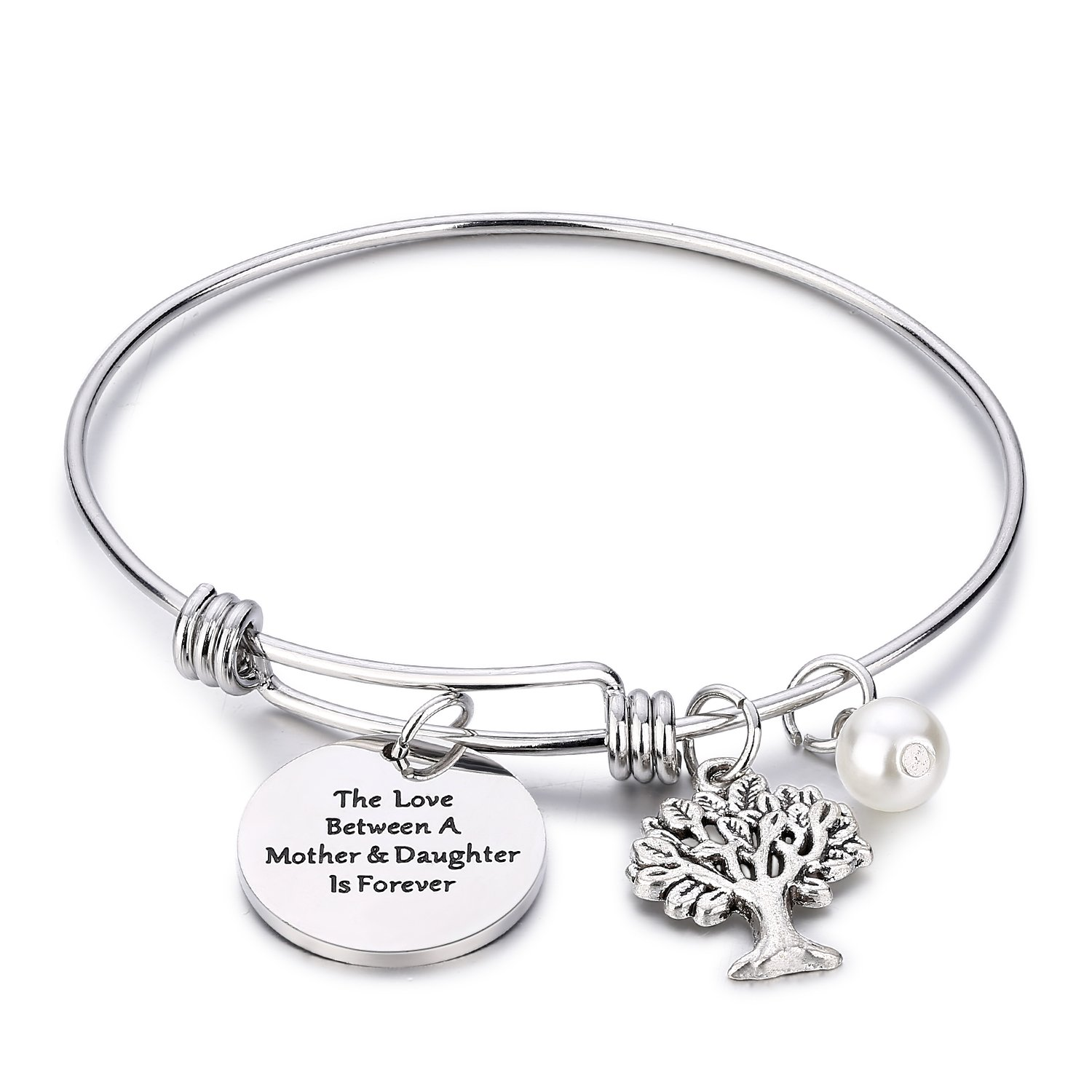 CJ&M Family Tree Bracelet The Love Between Mother and Daughter is Forever Tree of Life Bracelet Mother Gift Bangle, Christmas Gifts,Mother's Day Gifts Mother's Day Gifts B01MS3UHQE_US